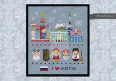Mini People - Russia icons cross stitch pattern by cloudsfactory