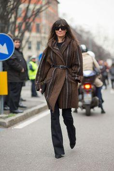 Milan Street Style feb-2015 Emanuelle Alt - HarpersBAZAAR.com