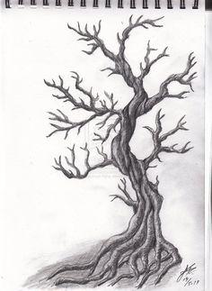 Jack's Tree tattoo design no 3 by katatsumuri-hime on DeviantArt - Tattoo Designs Men Tree Tattoo Designs, Best Tattoo Designs, Tattoo Tree, Tattoo Ideas, Tree Designs, Feather Tattoos, Nature Tattoos, Life Tattoos, Raven Tattoo