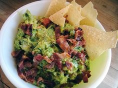 Yes, you should put bacon in your guacamole. Rick Bayless says so. #recipe