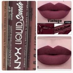 NYX-VINTAGE-LIQUID SUEDE CREAM LIPSTICK HTF!! This is a full size brand new sealed tube of NYX Liquid Cream Lipstick in Vintage. Very hard to find in stock! NYX Makeup Lipstick