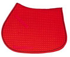 Red Saddle Pad - All Purpose Style - VIBRANT & RICH COLOR!| Bon-Vivant Equestrian