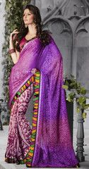 #Pink and #purple color #Georgette brasso material #saree #sari
