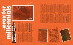 PRAY FOR MILLENNIALS #MinimalDesign #Minimal #RevistaMarvin #Marvin #ArtDirection #Magazine #EditorialDesign #Editorial #GraphicDesign #BienSadBienSexy #SoSadSoSexy #MILLENNIALS #orangeaesthetic