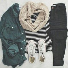 jeans shirt green grey dark indie rock chick tumblr teenagers cute cool girl button casual comfy stripes denim alternative summer spring fall outfits winter outfits travel jacket green jacket