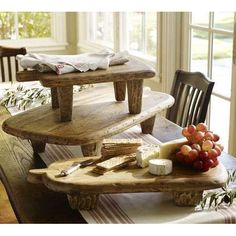 raised  pedestal wine and cheese boards from pottery barn