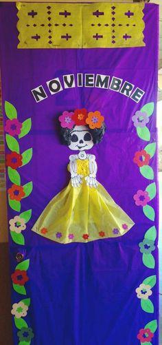 Classroom Bulletin Boards, Halloween Door, Preschool, Display, Doors, Crafts, Preschool Door, Preschool Classroom, Preschool Education