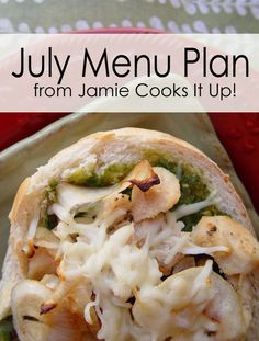 July Menu Plan 2013 from Jamie Cooks It Up!