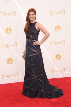Debra Messing looked fabulous at the Emmys. We're excited for The Mysteries of Laura premiering September 24th. http://www.nbc.com/the-mysteries-of-laura