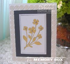 Stamping with Bibiana: Inlay technique flower card for mother's day using memory box dies Memory Box Dies, Flower Cards, I Card, Stamping, Card Making, Arts And Crafts, Memories, Paper, Frame