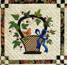 A Baltimore Beauty, basket with butterfly and ribbon