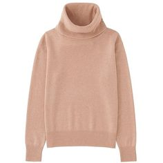 UNIQLO 100% Cashmere Turtle Neck Sweater (8 colours) ($91) ❤ liked on Polyvore featuring tops, sweaters, red sweater, red cashmere sweater, loose turtleneck sweater, cashmere turtleneck and polo neck sweater