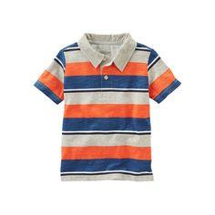 Toddler Boy OshKosh B'gosh® Striped Polo, Size: 3T, Orange Stripe