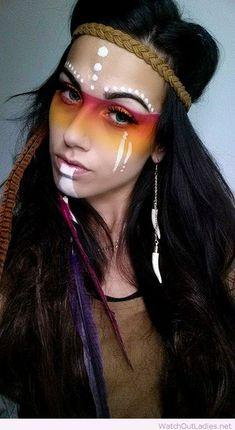 Aztec princess Halloween make-up