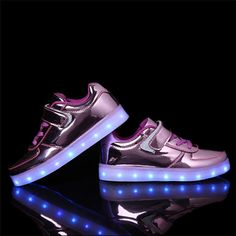 High Quality Kids USB Charging Led Ligth Up Shoes Children Lighting Boys Girls Gold Casual Yeezy Shoes Chaussure Led Enfant
