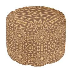 Brown abstract modern art with different shapes and pattern You can also customized it to get a more personal look. Ottoman Design, Poufs, Different Shapes, Abstract Pattern, Modern Art, Stylish, Brown, Unique, Outdoor Decor