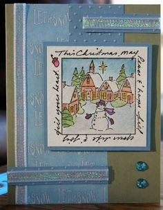 CHRISTMAS VILLAGE WINDOW.  Sells  for 9.99. I have the other items in the examples in my shop. Pat's Rubber Stamps & Scrapbook supplies. ART IMPRESSIONS RUBBER STAMPS Sold separately are some of the items used in project. You can purchase all items from my store:  We take PayPal. FREE SHIPPING only by: PHONE or email orders:423-357-4334 patbubstilwell@gmail.com ORDERS of $30.00 or more. I have a large selection of retired stamps.