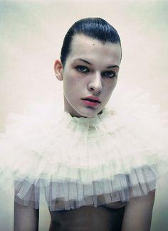 Milla Jovovich photographed by Mario Sorrenti