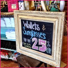 Re-purpose a decorative frame into a chalkboard + 5 other DIY ideas from a local boutique that inspired me