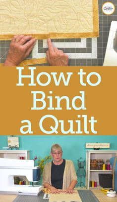 Learn how to bind a quilt including how to miter the corners and join the binding ends using a diagonal seam. Beginner Quilt Patterns, Quilting For Beginners, Quilting Tips, Quilting Tutorials, Hand Quilting, Quilting Projects, Sewing Projects, Machine Binding A Quilt, Quilt Binding Tutorial