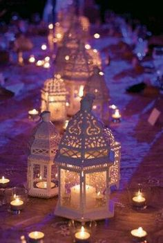 Then I Could Also Use The Lanterns In The Summerhouse Using Battery  Tealights. White Moroccan Lanterns Suspended By 1 Meter By  BlingFlingBoutique