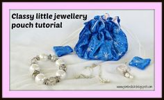 How to make these classy little drawstring jewellery pouches, with lots of little pockets inside for earrings and rings.