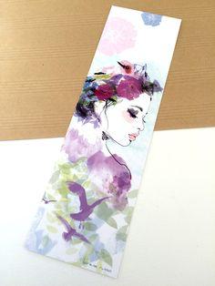 Marque-page illustré - Profil champêtre : Marque-pages par lorene-illustration