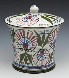 RARE SCOTTISH WEMYSS LANGTOUN WARE STYLISED DESIGN LIDDED JAR DATED 1927 | eBay