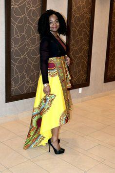 SALE New Rose Danshiki High Low skirt by RAHYMA on Etsy ~African fashion, Ankara, kitenge, African women dresses, African prints, African men's fashion, Nigerian style, Ghanaian fashion ~DKK