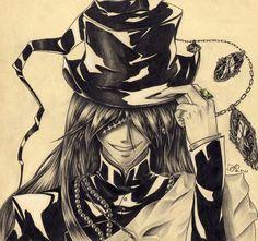 Black Butler ~~ Amazing fanart of the Undertaker Trop bien fait! Der Undertaker, Black Butler Undertaker, Black Butler 3, Manga Art, Manga Anime, Anime Art, Black Butler Characters, Butler Anime, Shinigami
