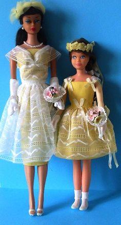 Wedding wonders I HAD these.  But my Barbie and Skipper were redheads like me!
