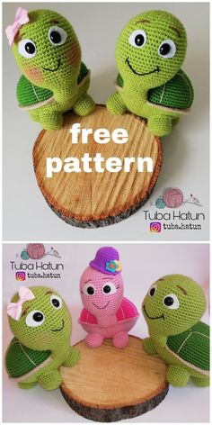 Crochet Turtle Amigurumi Free Patterns The sweet crochet turtles will be the perfect friends for your kids. You can make them for your kids with these Crochet Turtle Amigurumi Free Patterns. Crochet Animal Amigurumi, Crochet Gratis, Cute Crochet, Crochet Dolls, Crochet Baby, Crochet Animals, Amigurumi Patterns, Crochet Turtle Pattern Free, Crochet Animal Patterns