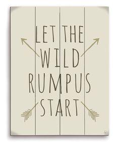 Love this 'Let the Wild Rumpus Start' Wall Art on #zulily! #zulilyfinds
