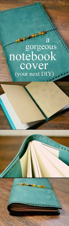 A Homemade Traveller's Notebook Love the Midori Traveller& Notebooks? Who doesn& They& perfect for bullet journals, homeschool agendas, nature journals -- whatever you can think of! Make your very own Midori-insprired Fauxdori - it& a quick an easy DIY! Travelers Notebook, Sewing Projects, Diy Projects, Sewing Tips, Handmade Books, Handmade Journals, Handmade Crafts, Handmade Rugs, Diy Hanging