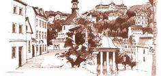 Karlovy Vary - Zámecká kolonáda Castle Colonnade - Karlovy Vary / Carlsbad