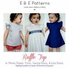 Elegance & Elephants: Ruffle Top Pattern Now Available