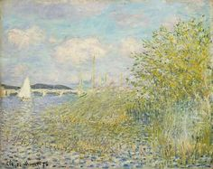 The Seine at Argenteuil (La Seine á Argenteuil - Claude Monet, 1874 Private Collection on loan for Impressionists on the Water Legion of Honor - San Francisco, CA http://impressionists.famsf.org/