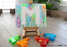 Art Projects for Kids – Water Gun Painting