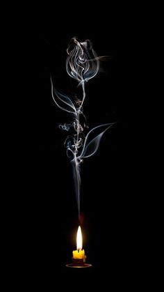 Rose from smoke