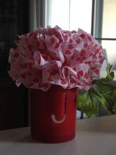 Tissue Paper carnation on vase