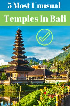 The temples listed below are among Bali's most famous and interesting temples and all worth a visit. Do not forget to wear decent clothes (or a Sarong) and behave accordingly, otherwise, the entry will be denied. #bali #baliisland #temples #balitemples