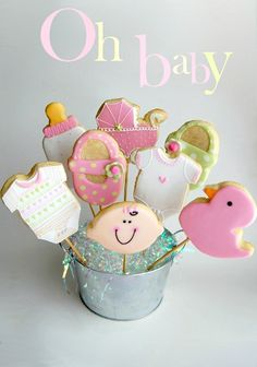 Baby Shower Cookies - Iced and Decorated Cookies #Recipe #cookies