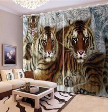 aanpassen 3d stereoscopische moderne gordijnen tijger wit gordijnen luxe gordijnen woonkamer europese stijlchina