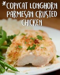 Copycat Longhorn Parmesan Crusted Chicken -Tasty - Food Videos And Recipes Texas Chili, Chicken Parmesan Recipes, Best Chicken Recipes, Longhorn Parmesan Crusted Chicken Recipe, Tasty Chicken Videos, Parmesean Crusted Chicken, Breaded Chicken, Cheesy Chicken, Steak Recipes