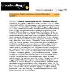 """""""Broadcasting.it"""" Maggio 2006"""