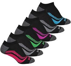 Prince Women's No Show Performance Athletic Socks for Running, Tennis, and Casual Use (Pack of 6) - Black