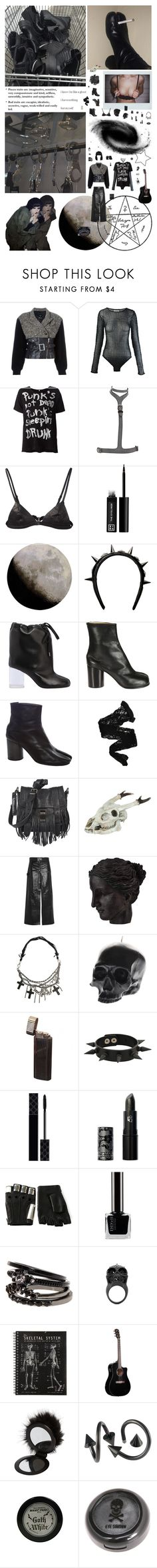 """""""No one can kill me with my white skin and black lips: when I get up every evening I realize that my heart is an empty room. When I can't find my third leg to wear another Maison Margiela Tabi boot I hate this world and my body."""" by nothingisnormal ❤ liked on Polyvore featuring Jean-Paul Gaultier, Maison Margiela, Giuseppe Zanotti, Fleur du Mal, Looking Glass, 3ina, nanimarquina, Givenchy, Wolford and Proenza Schouler"""