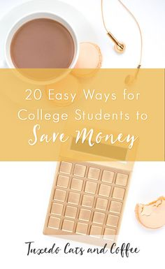 """College students have a reputation for being """"poor,"""" which is not surprising considering the high costs of tuition coupled with the fact that a busy college schedule complicates finding time for a job. But, by making several wise choices and a few tweaks to your routine, you can actually save money during college and keep financial struggle at bay. Here are 20 easy ways for college students to save money."""