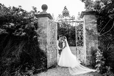 Bride and Groom photograph in black & white at Northbrook Park by Stylish Wedding Photography #weddingphotography #blackwhitephoto #weddingphotographer