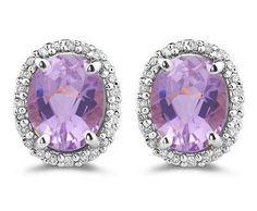 Diamond & 6.00 Ct Kunzite Earrings in 14K White Gold ►► http://www.gemstoneslist.com/jewelry/kunzite-earrings.html?i=p